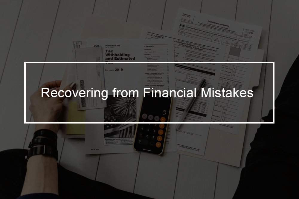How to fix temporary financial mistakes?