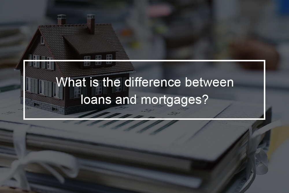 How do mortgages differ from personal loans?